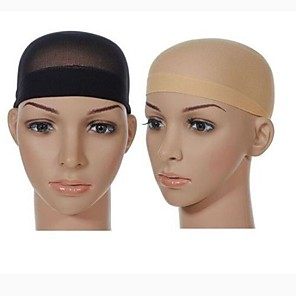 cheap Tools & Accessories-Cap Poly / Cotton Blend Wig Caps Decorations High Transparency 2 pcs Daily / Festival Simple Black#1B Strawberry Blonde / Light Blonde