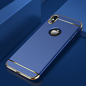 cheap iPhone Cases-Case For Apple iPhone XS / iPhone XR / iPhone XS Max Plating / Ultra-thin / Frosted Back Cover Solid Colored Hard PC