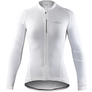 cheap Cycling Jerseys-Mountainpeak Women's Long Sleeve Cycling Jersey Winter Fleece Spandex Dark Grey Gray+White Black / Red Bike Jersey Top Breathable Moisture Wicking Sports Clothing Apparel / Stretchy