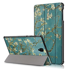 cheap Samsung Case-Case For Samsung Galaxy Tab A2 10.5(2018) T595 T590 / Tab A 8.0(2018) T387 / Samsung Tab A 10.1(2019)T510 Shockproof / Flip / Origami Full Body Cases Flower Hard PU Leather