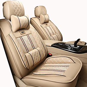 cheap Car Seat Covers-Car Seat Covers Headrest & Waist Cushion Kits Black / Beige / Coffee Artificial Leather / synthetic fibre / Polyester Fabric Business / Common For universal All years General Motors