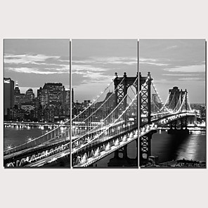 cheap Prints-Print Stretched Canvas Prints - Modern Realism Classic Modern Three Panels Art Prints