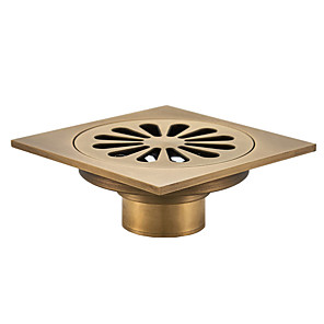 cheap Faucet Accessories-Floor Drain Drain Cool Country / Antique Brass 1pc - Hotel bath Floor Mounted