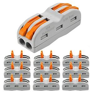 זול מתגים לתאורה-ZDM® 10pcs הנורה אביזר / רצועת האור אביזר פלסטיק ומתכת מחבר חשמל עבור נורית רצועת LED