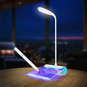 cheap Desk Lamps-Desk Lamp Modern Contemporary Eye Protection Rechargeable Desk Lamp For Home Office Bedroom Study Room Plastic DC 5V Blue / Green