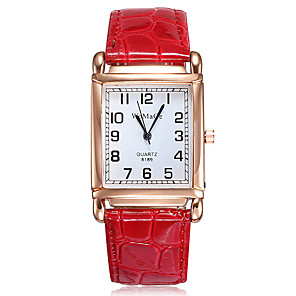 cheap Quartz Watches-Women's Quartz Watches Quartz Formal Style Elegant Casual Watch PU Leather Black / White / Red Analog - White Black Red One Year Battery Life / Stainless Steel