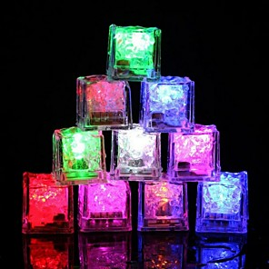 cheap Other Hand Tools-12pcs Color Changing Glow Led Ice Cube Led Submersible Light Flash Light for Party Bar Wedding