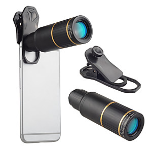 cheap Smartphone Camera Lenses-Mobile Phone Lens Long Focal Lens Glasses / Aluminium Alloy 10X and above 32 mm 3 m 9 ° Lens with Stand