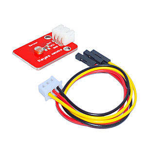 cheap Modules-Photosensitive Resistor Module (Red) And White Terminal With 3pin Dupont Wire