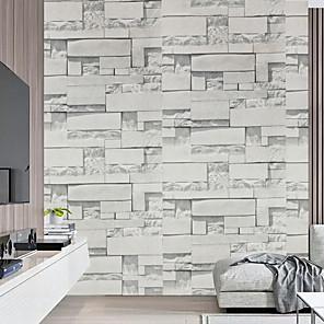 cheap Wallpaper-Wallpaper Peel and Stick 3D Decorative Stone Brick Wood Grain Vinyl Wall Sticker Waterproof Self-Adhesive Shelf Paper for Kitchen Bedroom Home Decor Wall Art Murals
