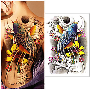 cheap Tattoo Stickers-1 pcs Temporary Tattoos Water Resistant / Best Quality Back Tattoo Stickers