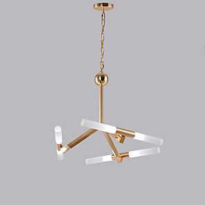 cheap Lantern Design-QINGMING® 6-Light 50 cm Mini Style Chandelier Metal Mini Electroplated Artistic / LED 110-120V / 220-240V