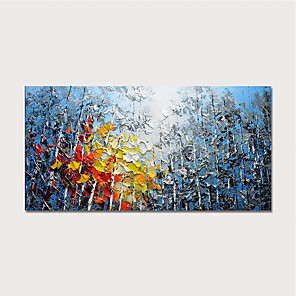cheap Abstract Paintings-Hand Painted Canvas Oil Painting Abstract Landscape Home Decoration With Frame Painting Ready To Hang With Stretched Frame