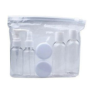 cheap Cosmetic Bottles-Portable Transparent Travel Cosmetic Bottle Points Bottling Six Sets Plastic Material