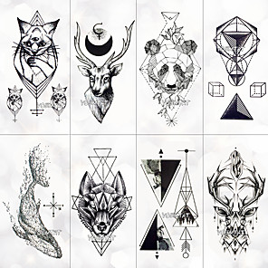 cheap Tattoo Stickers-8 pcs Temporary Tattoos Water Resistant Face / Hand / brachium Tattoo Stickers