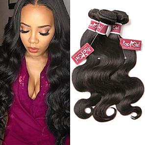 cheap Human Hair Weaves-4 Bundles Hair Weaves Peruvian Hair Body Wave Human Hair Extensions Remy Human Hair 100% Remy Hair Weave Bundles 400 g Natural Color Hair Weaves / Hair Bulk Human Hair Extensions 8-28 inch Natural