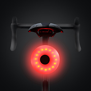 cheap Bike Lights & Reflectors-LED Bike Light Rear Bike Tail Light Safety Light LED Mountain Bike MTB Bicycle Cycling Waterproof Multiple Modes Portable Easy to Install Li-polymer 20 lm Rechargeable Battery White Red Camping
