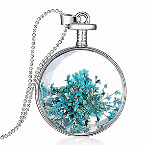 cheap Earrings-Women's Pendant Necklace Necklace Glass Chrome Silver 60 cm Necklace Jewelry 1pc For Daily Holiday School Street Festival