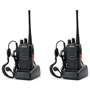 cheap Video Door Phone Systems-2PCS Baofeng BF-888S Walkie Talkie 888s 5W 2800mAh 16 Channels 400-470MHz UHF FM Transceiver 6m Two Way Radio Comunicador For Outdoor Racing(Give headphones)