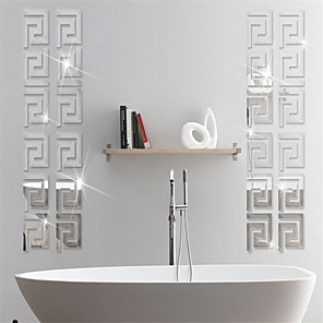 cheap Bathroom Gadgets-Abstract / Shapes Wall Stickers Mirror Wall Stickers Decorative Wall Stickers, PVC Home Decoration Wall Decal Wall / Glass / Bathroom Decoration 10pcs