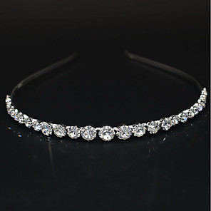 cheap Hair Jewelry-Women's Ladies Party Cute Elegant Rhinestone Silver Plated Alloy Solid Colored