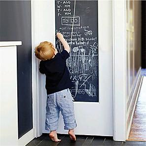 cheap Wall Stickers-1Pc 45*200(W*L)cm Wall Sticker Creative Blackboard Pattern Writable Functional Wall Art