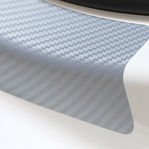 cheap Car Body Decoration & Protection-Universal 4PCS 60cm x 6.7cm Sill Scuff Anti Scratch Carbon Fiber Auto Door Sticker Car Accessories Styling