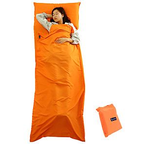 cheap Sleeping Bags & Camp Bedding-Camping Sleeping Bag Liner Outdoor Camping Envelope / Rectangular Bag 15-25 °C Single Polyester Waterproof Portable Warm Dust Proof Foldable Skin Friendly 210*75 cm Spring Fall for Fishing Hiking