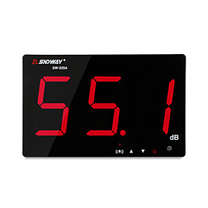 cheap Novelties-SNDWAY SW-525A Digital Sound level meter 30~130db large screen display Restaurant Bar/office/home Wall hanging noise meter