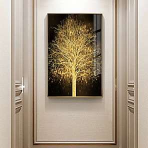 cheap Framed Arts-Gold Tree Botanical Prints Luxury Style Framed Wall Art