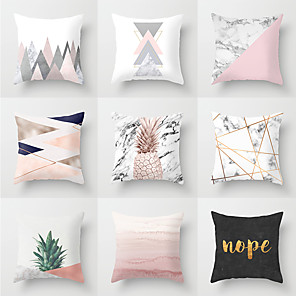 cheap Pillow Covers-1 pcs Polyester Pillow Cover, Contemporary Simple Modern Square Traditional Classic