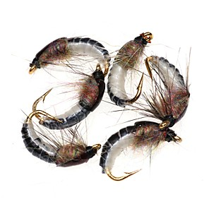 cheap Fishing Lures & Flies-6 pcs Flies Fishing Lures Flies Worm Feathers Carbon Steel Mixed Material Sinking Sea Fishing Fly Fishing Bait Casting