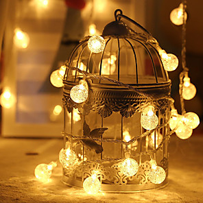 cheap LED String Lights-3m String Lights 20 LEDs 1 set Warm White / RGB / White Creative / Party / Decorative Batteries Powered