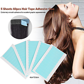 cheap Tools & Accessories-Wig Accessories / Tools & Accessories Gel Wig Adhesive Glue / Adhesive Adhesive Tapes Water Resistant / Waterproof 5 pcs Daily Basic Transparent
