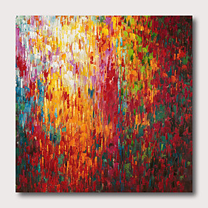 cheap Abstract Paintings-Hand painted Stretched Oil Painting Canvas Ready To Hang Abstract Style Pallet-Knife Heavy Oil With Stretched Frame