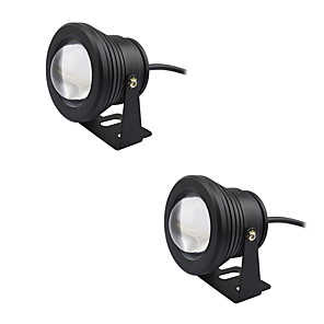 cheap LED Cabinet Lights-2pcs 10W Submersible Lights Underwater Lights Waterproof Decorative Warm White Cold White 12V Aquarium Vase Swimming pool Courtyard Garden 1LED Beads