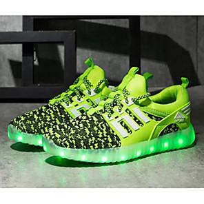 رخيصةأون أحذية مع LED-للصبيان LED / مريح / أحذية مضيئة قماش أحذية رياضية الأطفال الصغار (4-7 سنوات) / الأطفال الصغار (7 سنوات +) LED / مضيء أحمر / أسود / زهري الربيع / الخريف / TPR (مطاط حراري)