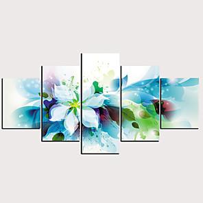 cheap Prints-Print Rolled Canvas Prints - Abstract Floral / Botanical Classic Modern Five Panels Art Prints