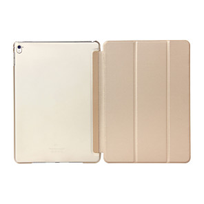 cheap iPad case-Case For Apple iPad Pro 9.7'' Shockproof / with Stand / Translucent Full Body Cases Solid Colored Hard PU Leather