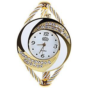cheap Engraved Bracelets-Women's Luxury Watches Fashion Watch Bracelet Watch Quartz Ladies Black / White / Blue Analog - White Black Purple One Year Battery Life / SSUO 377