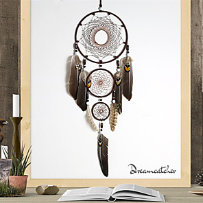 cheap Dreamcatcher-Handmade Dream Catchers Large Polycyclic  Net With Feathers Home Décor