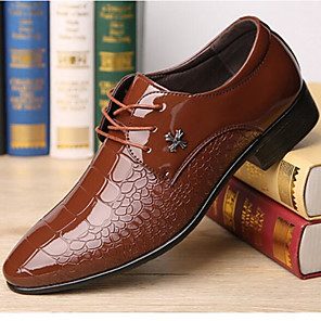 cheap Men's Oxfords-Men's Formal Shoes PU Spring &  Fall Oxfords Wine / Navy Blue / Brown / Party & Evening / Party & Evening
