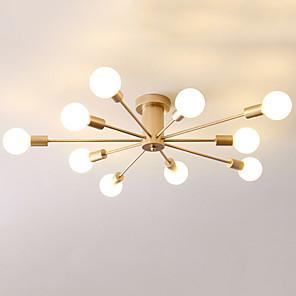 cheap Dimmable Ceiling Lights-JSGYlights 10-Light 90 cm Flush Mount Lights Metal Linear Painted Finishes Country / Modern 110-120V / 220-240V / E26 / E27
