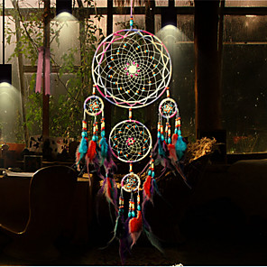 cheap Dreamcatcher-Handmade Dream Catchers Feather Bohemia Style Wall Decorations
