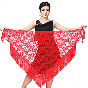 cheap Latin Dancewear-Latin Dance Skirts Tassel Women's Training Performance Lace
