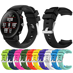 cheap Smartwatch Bands-Watch Band for Huami Amazfit A1602 / Huami Amazfit Pace Watch / Huami Amazfit Stratos Smart Watch 2/2S Xiaomi Sport Band Silicone Wrist Strap