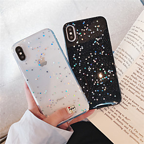 cheap iPhone Cases-Case For Apple iPhone XR / iPhone XS Max Glitter Shine / Pattern Back Cover Glitter Shine Soft TPU for iPhone X /Xs / 6 /6 Plus / 6S /6S Plus / 7 / 7 Plus / 8 / 8 Plus