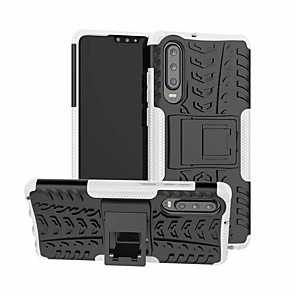 cheap Huawei Case-Case For Huawei Huawei P30 / Huawei P30 Pro / Huawei P30 Lite Shockproof / with Stand Back Cover Solid Colored Hard Plastic