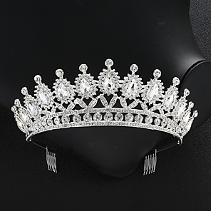cheap Jewelry Sets-Crystal / Alloy Tiaras with Crystal 1 Piece Wedding / Special Occasion Headpiece