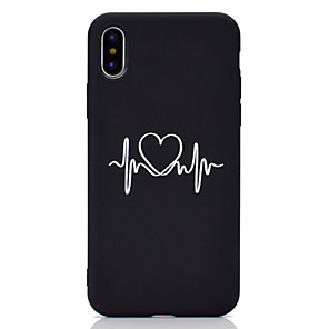 cheap iPhone Cases-Case For Apple iPhone 11 / iPhone 11 Pro / iPhone 11 Pro Max Frosted / Pattern Back Cover Heart Soft TPU